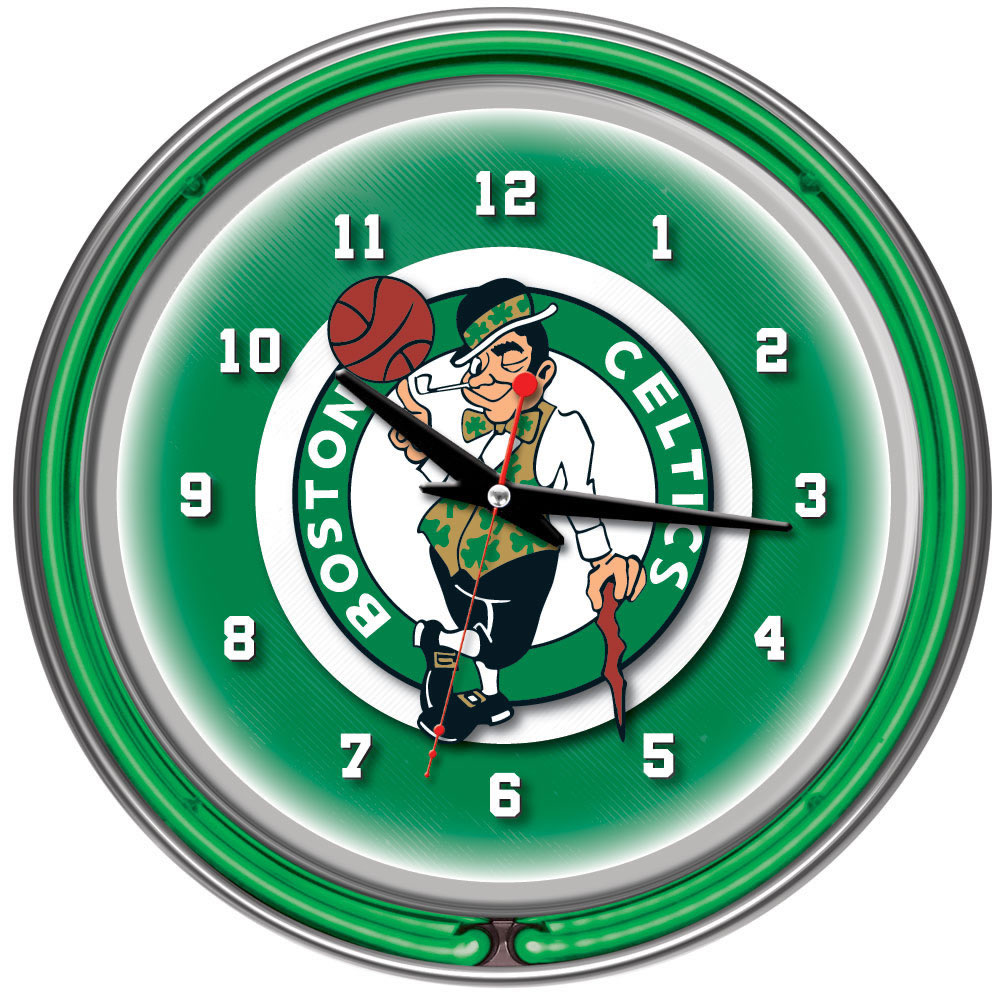 reputable site 22609 2bcb8 Boston Celtics Neon Clock