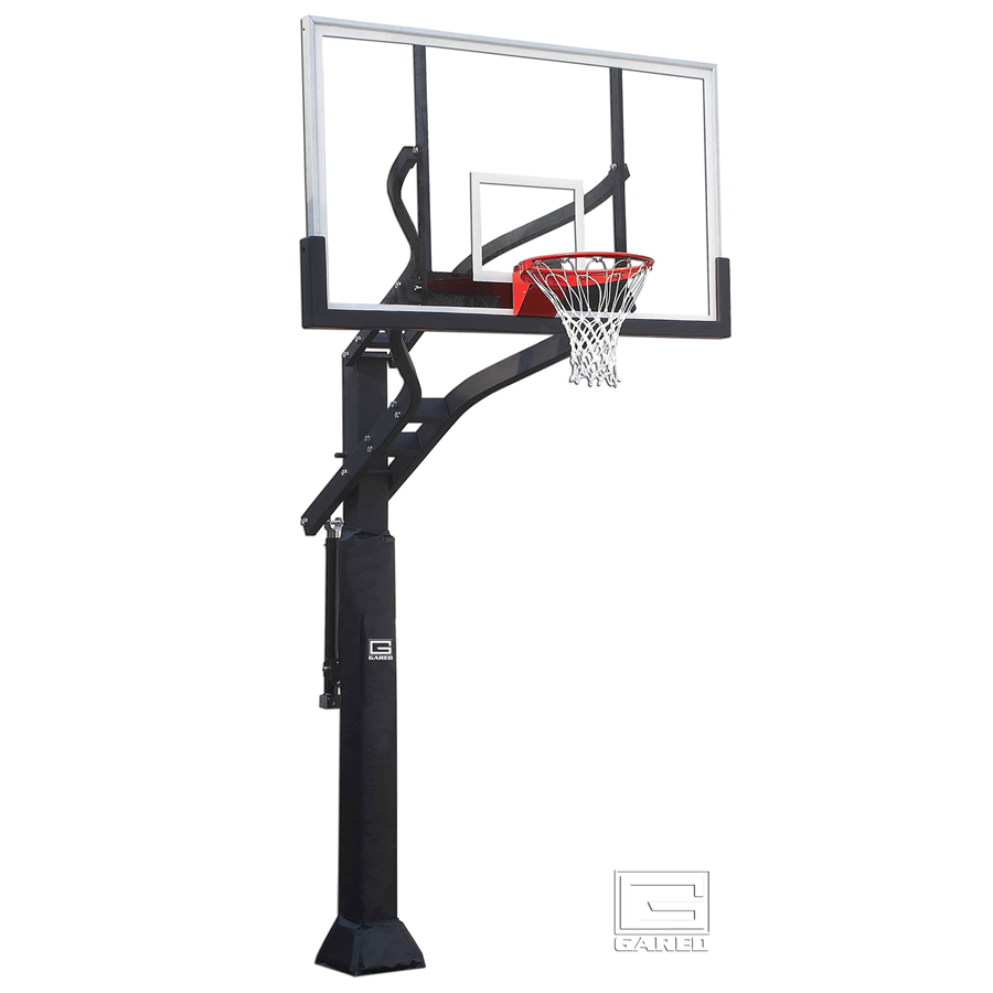 Basketball Hoop And Ball Front And Side View Flat